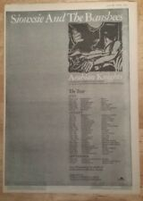Siouxsie and Banshees arabian 1981 press advert Full page 28 x 39 cm mini poster