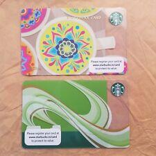 2 INDIA Starbucks gift cards Brand new Unswiped pin intact Mandalay Green Core