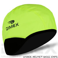 Cycling Skull Cap Under Helmet Motorbike Winter Thermal Windstopper Hi-Viz Green
