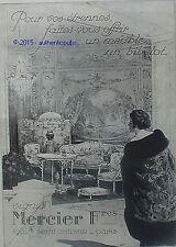 PUBLICITE MERCIER FRERES MEUBLE BIBELOT PARIS DE 1923 FRENCH AD ADVERT ART DECO