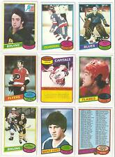 1980-81 TOPPS NEAR SET 252/264, w STARS, HOFERS & RC!! OVER 95% OF THE SET!!