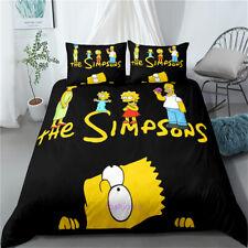 Doona/Duvet/Quilt Cover Set Single/Double/Queen/King Size Bed The Simpsons Black