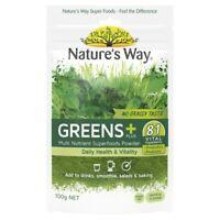 Nature's Way Greens + PLUS 100g 81 Vital Ingredients Superfood Powder Health