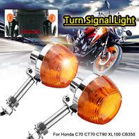 10mm Motorcycle Turn Signal Indicator Light For Honda C70 CT70 CT90 XL100  > #