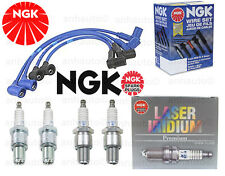 NGK High Performance Wire Set & 4-NGK Iridium Spark Plugs Mazda RX-8 2004-2007