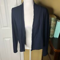 CAbi Navy Blue Easy Topper Cardigan Sweater M