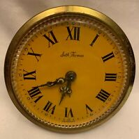 Seth Thomas Brass Clock Face Insert Wind-Up Clock Germany Works Great