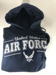 United States Air Force Navy Blue Hoodie Sweatshirt Unisex Adult Size XL
