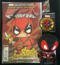 MARVEL COLLECTOR CORPS DEADPOOL SET: PATCH, PIN, PLUSH & Variant Edition 1 COMIC