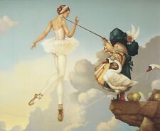 Michael Parkes LEDAS DAUGHTER ballerina tutu tightrope fantasy surreal art print