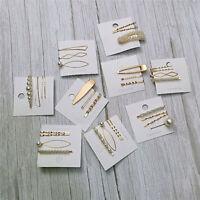 Künstliche Perle Haarnadeln Haarspangen Clips Metall Haarspange Haarschmuck FL