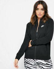 Nike Women Ladies Sportswear Essential Black Full-Zip Fleece Zipper BV4122-010