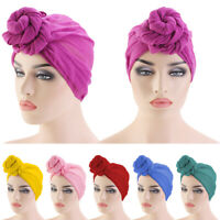 Women Knot Bonnet Chemo Hair Loss Cap Hijab Long Turban Hats Head Scarf Wrap New