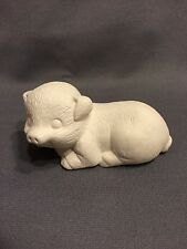 Pig Lying - Ceramic Bisque - Ready To Paint - U Paint