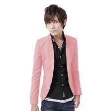 Fashion Men's Casual Slim Fit One Button Jacket Suit Blazer Business Coat Tops