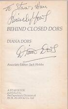 DIANA DORS BEHIND CLOSED DORS RARE SIGNED PAPERBACK BOOK COA