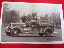 1930 MACK FIRETRUCK   BIG 11 X 17  PHOTO  PICTURE