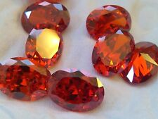 ONE PC - 6 mm Orange Russian Sim Diamond BRILLIANT CUT (0.8 Carat)