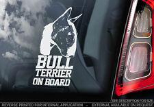 Bull Terrier - Car Window Sticker - Dog Sign -V03