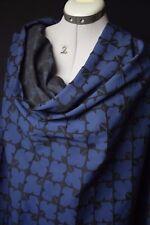 Orla Kiely.Superbe brocart jacquard  texturé géométrique scandinave Noir bleu.
