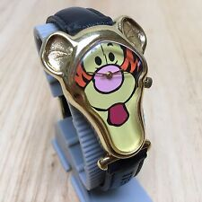 Vintage Timex Disney Pooh Head Shape Gold Tone Analog Quartz Watch Hour~New Batt