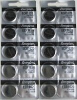 10 Pack Fresh ENERGIZER CR1620 BATTERY 3V LITHIUM CR 1620 DL1620 BR1620 EXP 2024