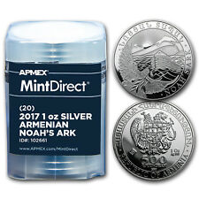 2017 Armenia 1 oz Silver Noah's Ark (20-Coin MintDirect® Tube)