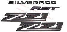 2019-2021 Matte Black Silverado RST Z71 Emblem Nameplate Badge Kit OEM