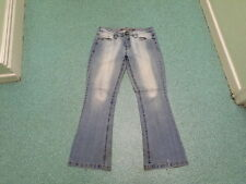"Evie Bootcut Jeans Size 12 Leg 32"" Faded Medium Blue Ladies Jeans"