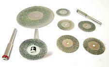 """6pc MINI Diamante Taglio Disco & 2 """"Diamond Coated tagliato DISCO HB209 / HB263"""