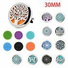 Car Vent Clip On Air Freshener Metal Stainless Steel Perfume Oil Diffuser Brief