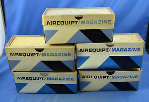 """Lot of 5 Vintage Airequipt 36 Slide Magazines for 2 x 2"""" Automatic Slide Changer"""