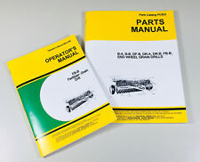 OPERATORS PARTS MANUALS FOR JOHN DEERE FB-B FB117B FERTILIZER GRAIN DRILL OWNER