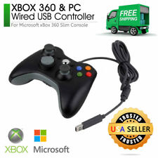 Wired USB Controller (Black) for PC & Xbox 360