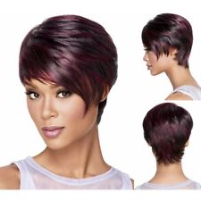 Afro Short pixie cut style wig with bangs straight Synthetic wigs for women NE8