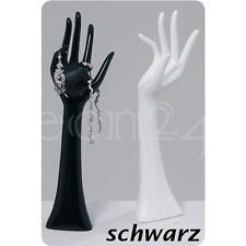 Schmuckhand Schmuckhalter Ring Hand schwarz 33cm