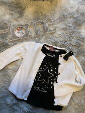 Zucker Mädchen Marken Kombi Shirt Glitzer Jacke Gr.92/98