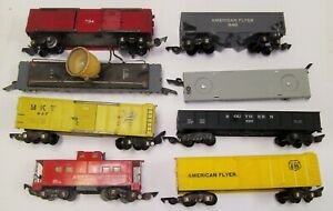 American Flyer Lot Of 8 Rolling Stock Latch Couplers Runners Not Bad No RESERVE