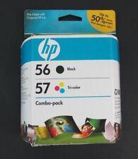 56 black COMBO 57 color ink jet HP PhotoSmart 7960 7760 7660 7550 7350 printer