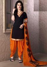Elegant Crepe Designer Printed Patiala Unstitched Material Suit.No SFD1015