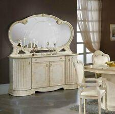 Elizabeth Italian BEIGE Cream 4 Door Tiffanie Style Buffet and Mirror