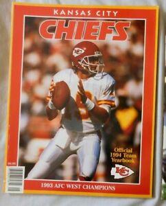 1994 Kansas City Chiefs Yearbook Joe Montana
