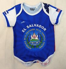 El Salvador/USA Soccer Baby Outfit Mameluco New W/O Tag Sizes 3 to 12 Months
