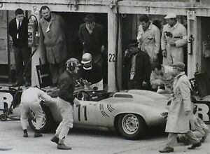 "PORSCHE 718 1000km Nürburgring 1962 GRAHAM HILL Schlegelmilch 7x9"" Photo Print"