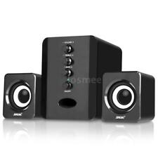 USB Wired Computer Speakers Stereo Music Player with Subwoofer For Desktop J2Q8