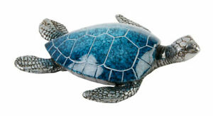 Natural World Collection Polished Stone Effect Sea Turtle Swimming Gift Ornament