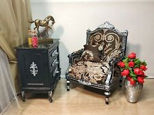 1:4 doll armchair Louis XVI classic style for doll 16 inch, BJD doll furniture