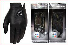 LOT 2- Callaway Opti-Color Golf GLOVE - Mens LEFT Hand Reg - 2 Gloves  ALL Sizes