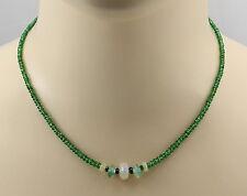 Tsavorit Kette - facettierter Grüner TsavolithGranat mit Opal und Smaragd 44 cm