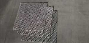 3x Streckgitter Streckmetall Gitter Stahl blank DC01 615x615 t=2,0mm Weite=22mm